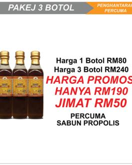 Madu Hutan 500g – 3 Botol + Free Gift